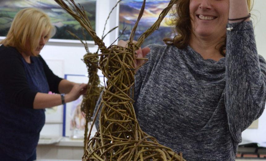 Willow Reindeer Sculpture