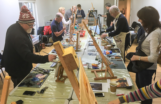 Chris McLoughlin's Oil Painting School (Monday's AM)