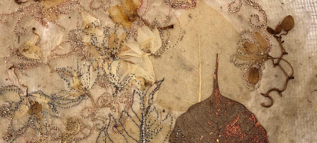 Silk Paper Making with Machine Stitch